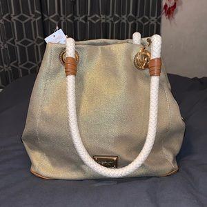 NWT Michael Kors Marina Tote Bag - Gold